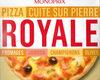Pizza Cuite sur Pierre (Royale : Fromages, Jambon, Champignons, Olives) - Product