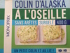 Colin d'Alaska à l'Oseille sans arêtes, Surgelé - Produit