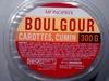 Boulgour carottes, cumin - Produit