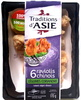 6 raviolis chinois Légumes Coriandre sauce aigre-douce - Product