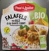 Falafels au riz sauce curry - Produit