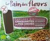 Tartines Bio craquantes aux pois chiches sans gluten - Produit