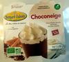Choconeige, crème dessert chocolat surmontée de crème chantilly sans œufs - Produit
