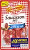 Saucisson sec réduit en sel, tranches fines - Produit