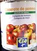 Compote de pommes allégée en sucre - Produit