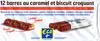 12 barres au caramel et biscuit croquant - Producto