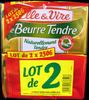Le Beurre Tendre (lot de 2 x 250 g) demi-sel Elle & Vire - Product