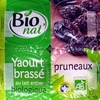 Yaourts au lait entier pruneaux Bio Bionat - Produit