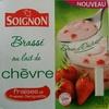 Brassé au lait de chèvre fraises et fraises Gariguette - Produit