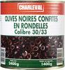 Olives noires confites en rondelles calibre 30/33 - Product