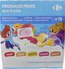 Fromage frais Petit Froossy fruits Kids - Produit