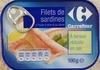 Filets de sardines à huile d'olive et au citron (À teneur réduite en sel) - Product