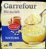 Riz au lait  nature - Produit