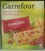 Barres Céréales Cranberry - Product