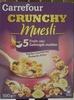 Crunchy muesli - Pépites croustillantes de céréales aux 5 fruits secs - Product