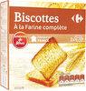 Biscottes à la farine complète - نتاج