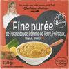 Fine purée de Patate douce, Pomme de Terre, Poireaux, Bœuf, Persil - Produit