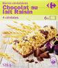 Barres céréalières Chocolat au lait Raisin - Product