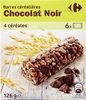 Barres céréalieres chocolat noir - Produit