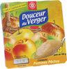 Compotes pomme pêche - Produit