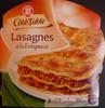 Lasagnes bolognaises - Produit
