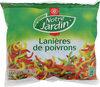 Lanières de poivrons rouges, verts et jaunes - sachet - Produit