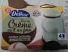 Petit pot de crème pistache sur lit de chocolat - Prodotto