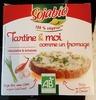 Tartine & moi comme un fromage Ciboulette & échalote Tofu - Product