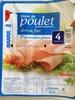 Blanc de poulet qualité supérieure doré au four (4 Tranches) - Product