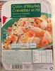 Colin d'Alaska, Crevettes et riz sauce crustacés - Produit