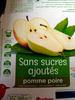 Compote pomme-poire sans sucres ajoutés - Product