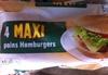 4 Maxi pains hamburger - Produit