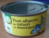 Thon albacore au naturel en morceaux - Pouce (Auchan) - Produit