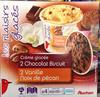 Crème glacées 2 chocolat biscuit 2 vanille noix de pécan - Product