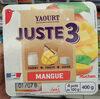 Yaourt juste 3 mangue - Produit