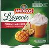 Liégeois de fruits  Pomme Mangue sur Coulis de Passion - Product