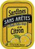 Sardines sans arêtes à l'huile d'olive et au citron - Produit