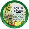 Emietté de sardine citron, olives et amandes - Produit