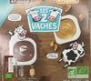 Crèmes Dessert Chocolat ou Caramel - Les 2 vaches - Product