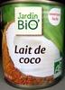Lait de coco 200 ml Jardin Bio - Product