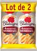 4 baguettes viennoises déjà-fendues (lot de 2 sachets) - Produit
