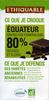 Chocolat noir 80% Equateur - Producto