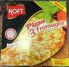 Pizza 3 fromages cuite au feu de bois - Produit