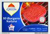 10 Burgers Nature (20% MG) Surgelés - Produit