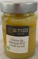 Citron de Menton IGP confit au sel , Ean 3770011383290, Citron confit