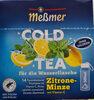 Cold Tea Zitrone-Minze mit Vitamin C - Product