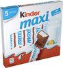 Kinder maxi barre chocolat au lait avec fourrage au lait 5 barres - Produit