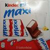Kinder maxi barre chocolat au lait avec fourrage au lait 5 barres - Produkt