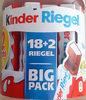 Kinder Riegel 18er Big Pack + 2 Gratis - Produit