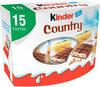 Kinder country barre de cereales enrobee de chocolat 15 barres - Produit